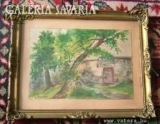 Antik akvarell g.G.R. 1938 jelzéssel