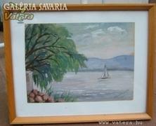 Kárpátiné Vasmáry Mária Balatoni táj :akvarell !