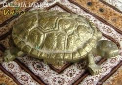 Réz teknős ékszertartó