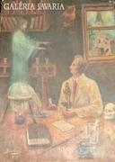 Borbás L. 1947. Okkult kutatás olaj - vászon festmény
