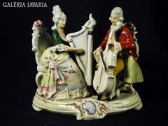 S787 R5 Régi német nagyméretű barokk főúri porcelán