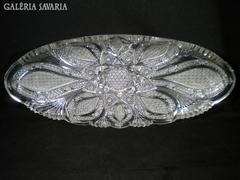 S745 Hatalmas méretű kristály ovális asztalközép