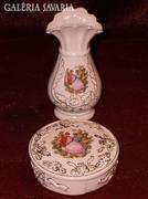 Porcelán váza és ékszertartó, bonbonier!  ( DBZ0048 )