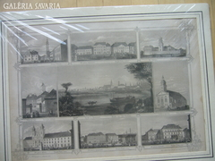 Nagy méretü tiszta, acél metszett GYÖR 1820 !!!!