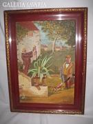 Carl Spitzweg: Ifjúkori Barát-1855.Festmény 47 x 32 cm