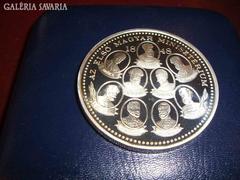 1848 EZÜST ÉREM,ELSŐ MAGYAR MINISZTÉRIUM,NAGYON RITKA! Exceptive silver coin:The first Hungarian...