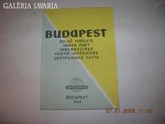 BUDAPEST TÉRKÉP 1965