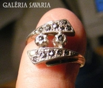 Jelzéssel ezüst gyűrű,markazitos fej, 16,9 mm átmérő