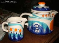 Keramos kiöntők, a keramikusművész G. Knapfm szignójáv