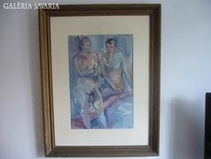 Lubomyr Mudretzkyi- A gőzben....   M.:91x 71 cm kerettel
