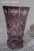 Metszett, hántolt pohár / váza