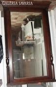 Óriási méretű oszlopos Ónémet tükör 187x105 cm