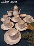 Herendi fehér aranyszélű ,6 személyes kávés készlet