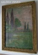 Gostonyi Alice -  antik tájkép - olaj/ vászon