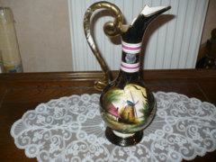 Belga karafa kézzel festett szép darab