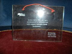 BM Határőrség KISZ Dícséret-üveg táblán
