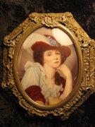 Miniatűr női portré,