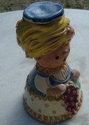 SZI keramikus szignóval kerámia szobor
