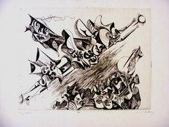 Hincz Gyula  30x39 cm rézkarc