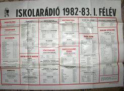 Iskolarádió 1982-83. I.félév - PLAKÁT
