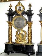 1810. Biedermeier 1/4 ütős Asztali  óra