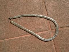 Súlyos réz nyaklánc ezüstözve