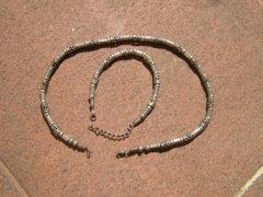 Különleges fém nyaklánc és karlánc szet