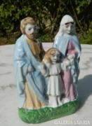 Antik kb. 80 éves szoborcsoport - szent család