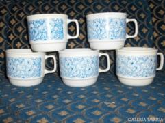 Zsolnay csésze - 5 db - együtt eladó
