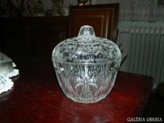 Csodás Antik nagy üveg bonbonier