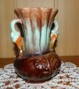 Csurgatott mázas kerámia váza karafa - sorszámozott