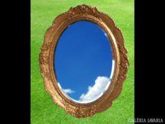 1190 R4 Antik hibátlan ovális tükör