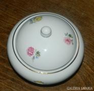 Régi hollóházi porcelán cukortartó - bonbonier