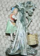 Antik sérült és ragasztott figurális váza
