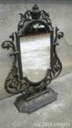 Öntöttvas asztali tükör,jelzett