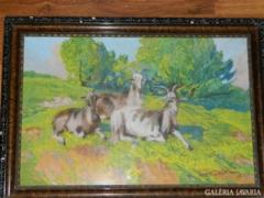 Brettschneider Károly  1880 - 1940 akvarell