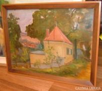 Gerencsér Ferenc olaj festmény : A vidék