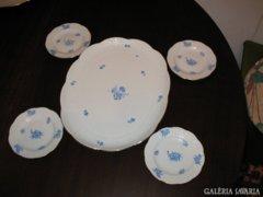 Herendi süteményes tál + 4 tányér