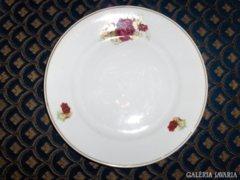 Rózsás porcelán lapos tányér - hibás