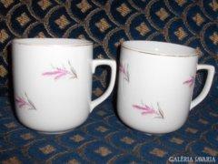 Jelzett porcelán teás csésze - párban eladó