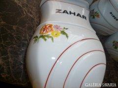 Nagyon szép porcelán fűszer tartó készlet.