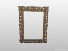 0223 Hatalmas méretű antik florentin tükör keret