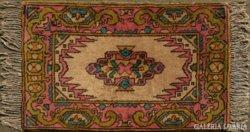 0329 Régi kézi csomózású faliszőnyeg 116 x 76 cm