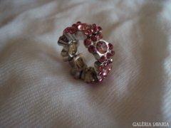Strasszköves gyűrű