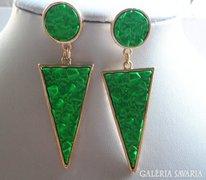 Zöld  fülbevaló