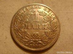 Német 1 márka 1906 G RITKA ! Ezüst Ag