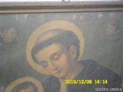 Régi angyalkás szent kép