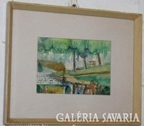Gerő Kázmér képcsarnokos festménye