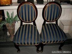 Exkluziv brokáttal huzott massziv antik szék