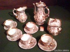 Antik teáskészlet 8 dbos
